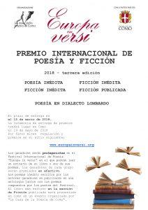 Premio Internacional de Poesìa y Ficcìon Europa in Versi 2018