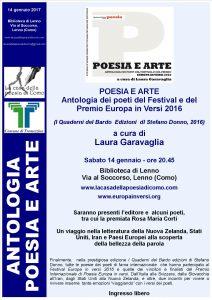 Locandina Antologia Europa in Versi 2016