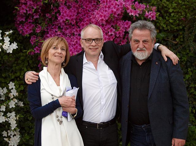 Ritratto di Laura Garavaglia con Markus hediger e Milan Richter